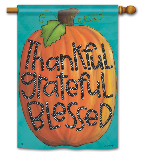 BreezeArt Outdoor House Flag Grateful