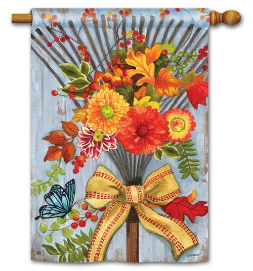"Time to Rake House Flag - 28"" x 40"" - BreezeArt"