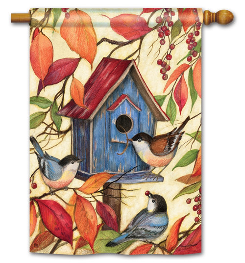 "Welcome Neighbors House Flag - 28"" x 40"" - BreezeArt"