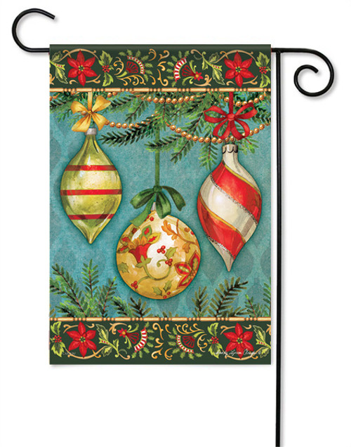 "Glittering Ornaments Garden Flag - 13 "" x 18"""