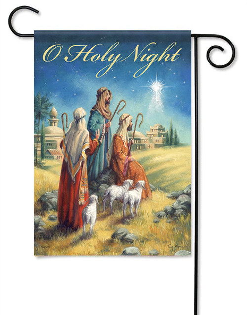 "Holy Night Garden Flag - 13 "" x 18"" - 2 Sided Message - Flag Trends"