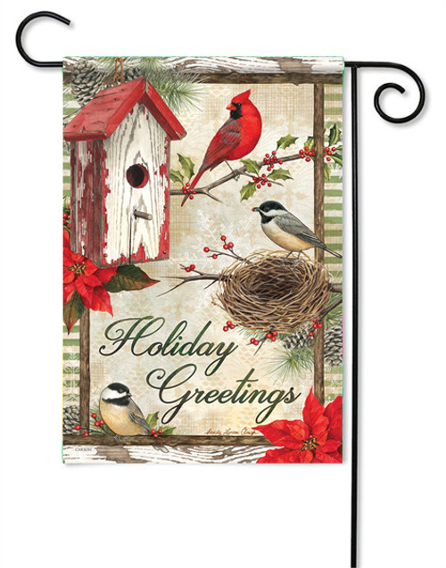 "Rustic Garden Holiday Garden Flag - 13 "" x 18"" - 2 Sided Message"