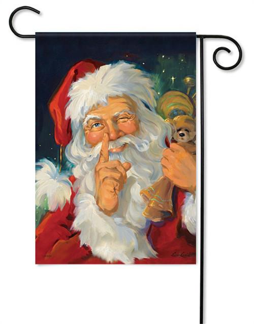 """Santa Wink Christmas Garden Flag - 13 """" x 18"""""""