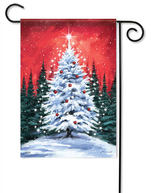 "Snowy Tree Garden Flag - 13 "" x 18"" - Flag Trends"