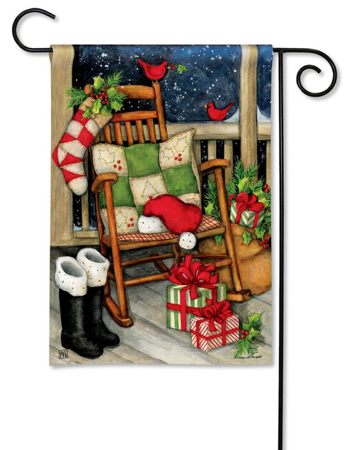 "Santa's Porch Christmas Garden Flag - 12.5"" x 18"" - BreezeArt"