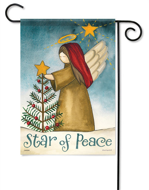 "Star Of Peace Garden Flag - 13 "" x 18"" - 2 Sided Message"