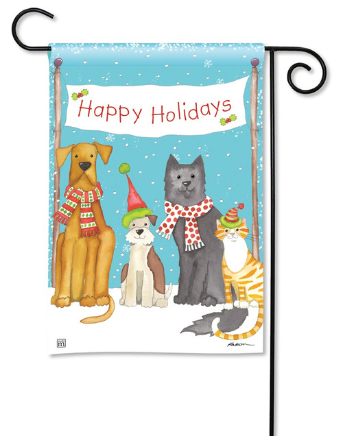 "Pet Holiday Christmas Garden Flag - 12.5"" x 18"" - BreezeArt"