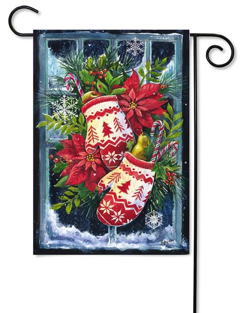 "Norwegian Christmas Mittens Garden Flag - 12.5"" x 18"""