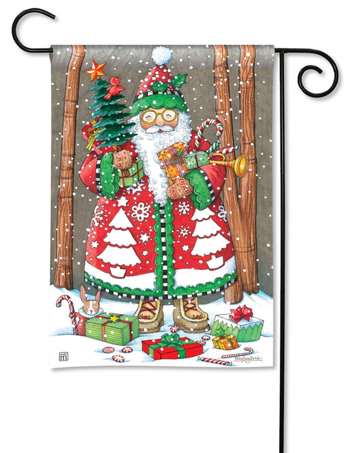 "Jolly Santa Christmas Garden Flag - 12.5"" x 18"" - BreezeArt"