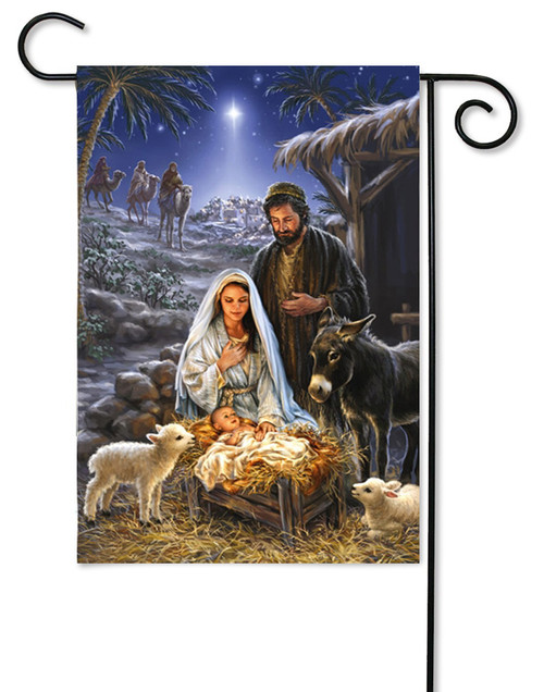 "A Savior is Born Nativity Garden Flag - 12.5"" x 18"""