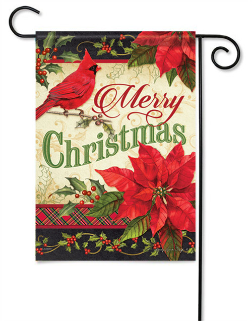 "Merry Christmas Greeting Garden Flag - 13 "" x 18"" - 2 Sided Message"