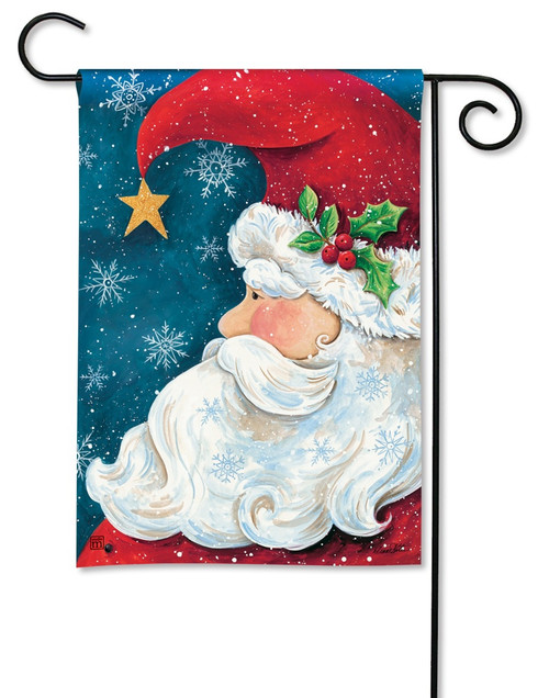 "Santa Wishes Christmas Garden Flag - 12.5"" x 18"" - BreezeArt"