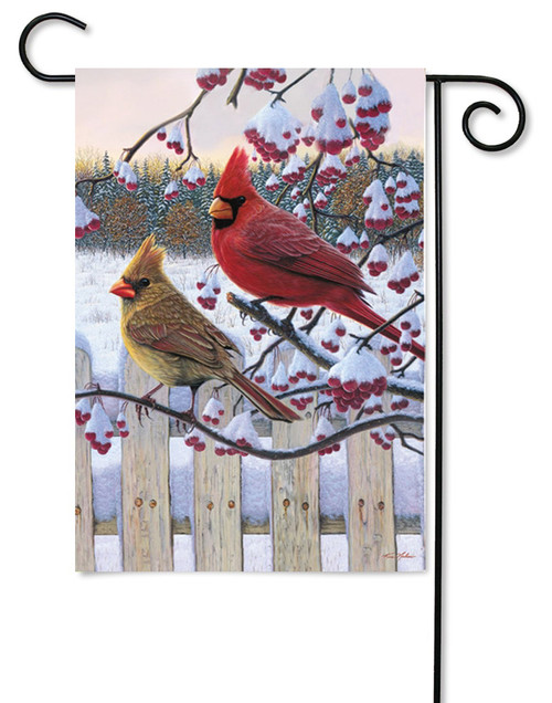 "Songbird Winter Cardinal Garden Flag - 12.5"" x 18"""