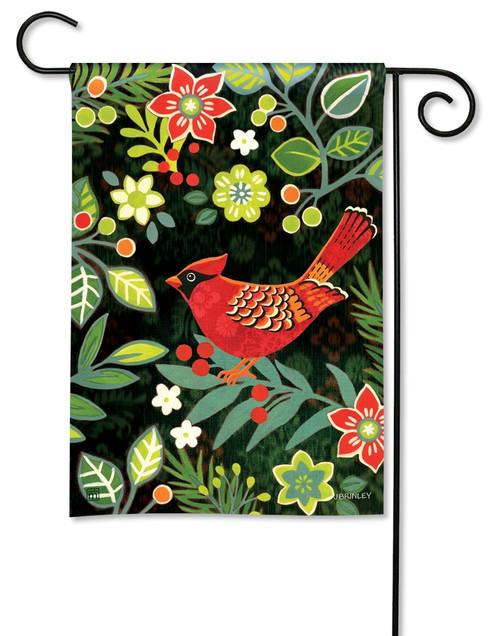 """Folk Cardinal Garden Flag - 12.5"""" x 18"""" - BreezeArt"""