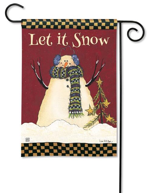 "Primitive Snowman Garden Flag - 12.5"" x 18"" - BreezeArt"