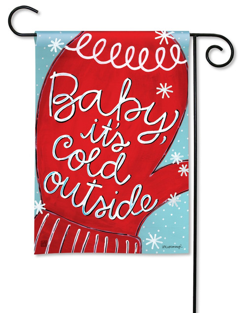 "Baby It's Cold Garden Flag - 12.5"" x 18"" - BreezeArt"