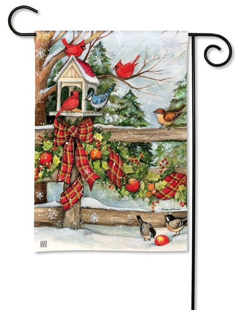 "Winter Gathering Garden Flag - 12.5"" x 18"" - BreezeArt"