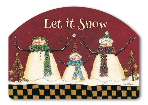 "Primitive Snowman Yard DeSign Yard Sign - 14"" x 10"""