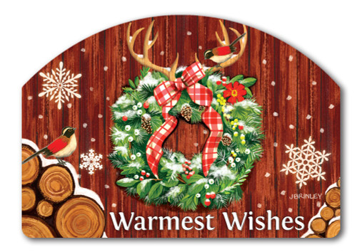 "Cozy Cabin Wreath Yard DeSign Yard Sign - 14"" x 10"""