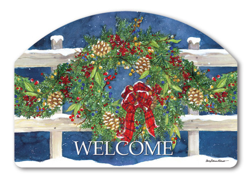 "Winter Wreath Yard DeSign Yard Sign - 14"" x 10"""