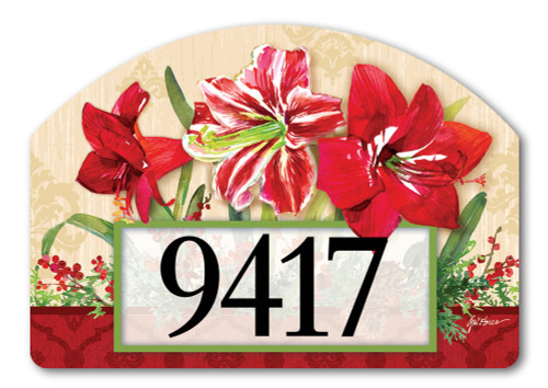 "Amaryllis Yard DeSign Address Sign - 14"" x 10"""