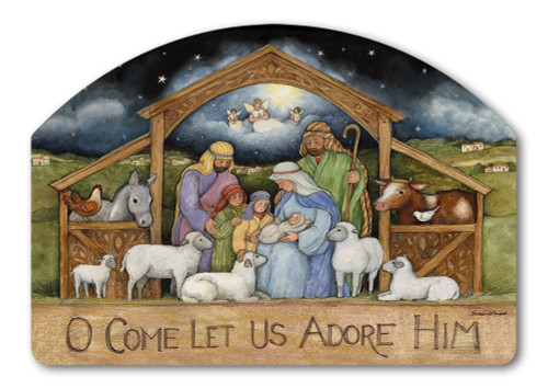 "Holy Family Yard DeSign Yard Sign - 14"" x 10"""
