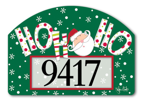 "Santa Says Yard DeSign Address Sign - 14"" x 10"""