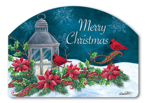 "Cardinal Christmas Yard DeSign Yard Sign - 14"" x 10"""