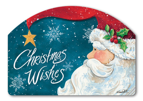 "Santa Wishes Yard DeSign Yard Sign - 14"" x 10"""