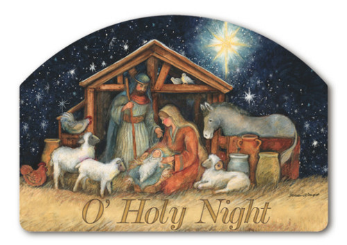 "Holy Night Yard DeSign Yard Sign - 14"" x 10"""