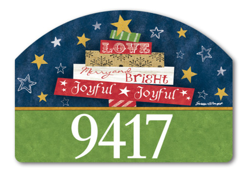 "Songs of Christmas Yard DeSign Address Sign - 14"" x 10"""