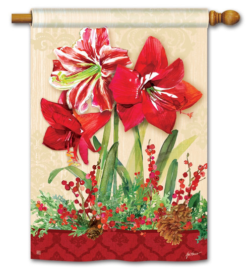 "Amaryllis House Flag - 28"" x 40"" BreezeArt"