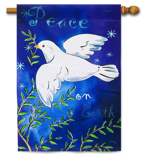 "Peace on Earth House Flag - 29"" x 43"" - 2 Sided Message"