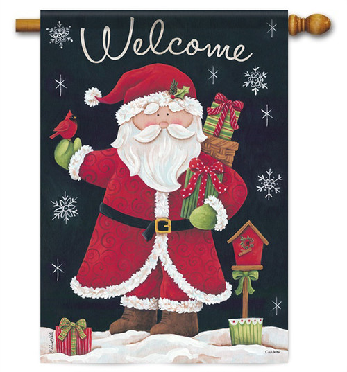 "Gifts From Santa House Flag - 28"" x 40"" - 2 Sided Message"