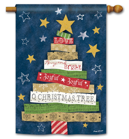 "Songs of Christmas House Flag - 28"" x 40"" BreezeArt"