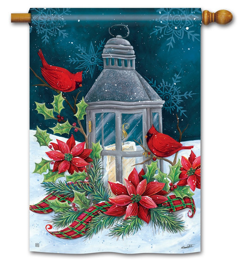 "Cardinal Christmas House Flag - 28"" x 40"" BreezeArt"
