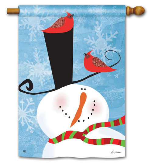 "Snowman Whimsy House Flag - 28"" x 40"" BreezeArt"