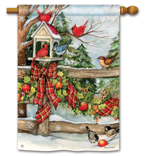 "Winter Gathering House Flag - 28"" x 40"" BreezeArt"