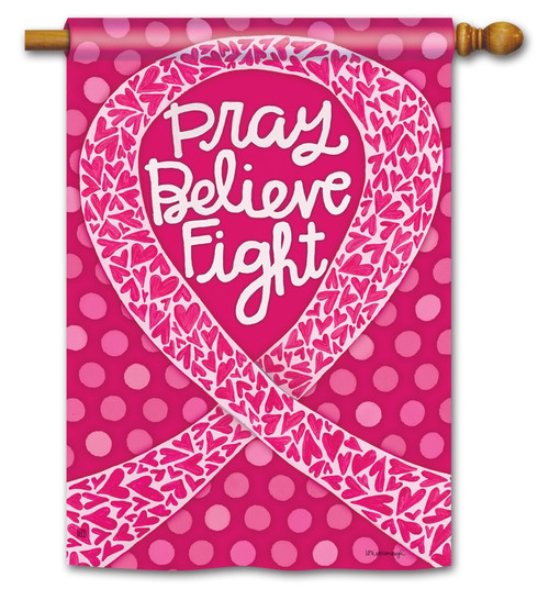 "Think Pink House Flag - 28"" x 40"""
