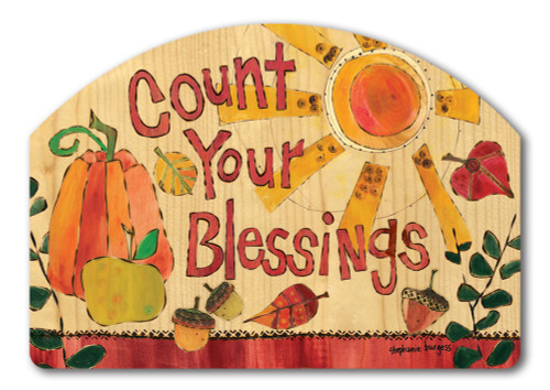 "Fall Blessings Yard DeSign Yard Sign - 14"" x 10"""