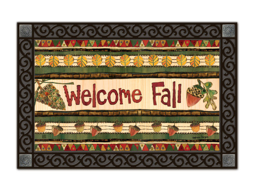 "Falling Leaves Welcome MatMates Doormat - 18"" x 30"""