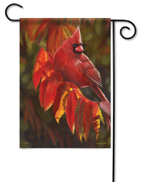 "Cardinal In Red Garden Flag - 13"" x 18"" - Flag Trends"