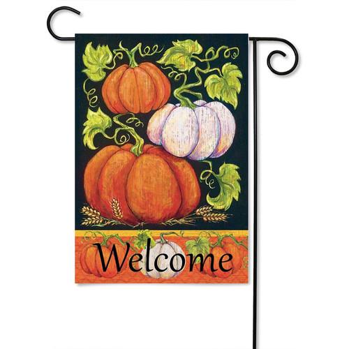 "Fall Pumpkins Garden Flag - 13"" x 18"" - 2 Sided Message - Magnolia Lane"