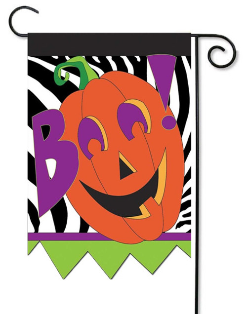 "Boo Double Applique Garden Flag - 13"" x 18"" - 2 Sided Message - Magnolia Lane"