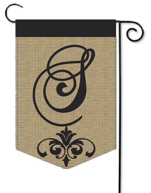 """Burlap Monogram Garden Flag Letter S - 13"""" x 18"""""""