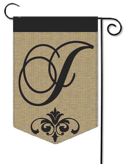 """Burlap Monogram Garden Flag Letter J - 13"""" x 18"""""""