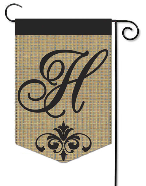 Outdoor Decorative Initial Monogram Flags