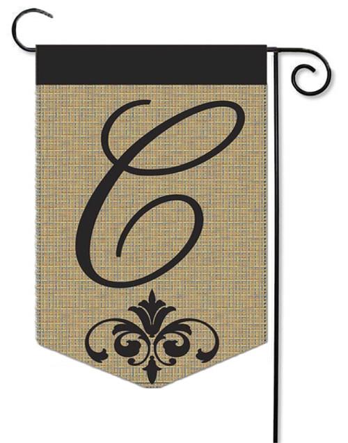 """Burlap Monogram Garden Flag Letter C - 13"""" x 18"""""""