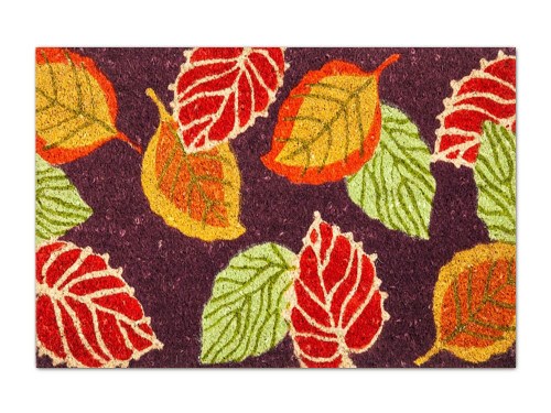 Fall Leaves Coir Doormat