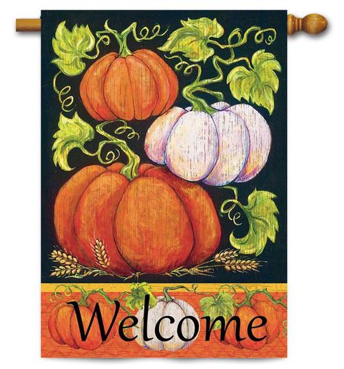 "Fall Pumpkins House Flag - 30"" x 44"" - Magnolia Lane"